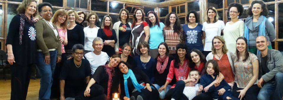 Baile Circular em Curitiba, com as convidadas Sandra Cabral e Deborah Dubner (nov/2014)