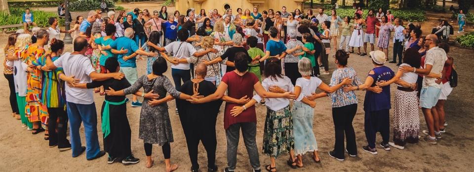 Danças Circulares pela Paz (Parque da Luz/SP - março2020) Foto: Amanda Mello